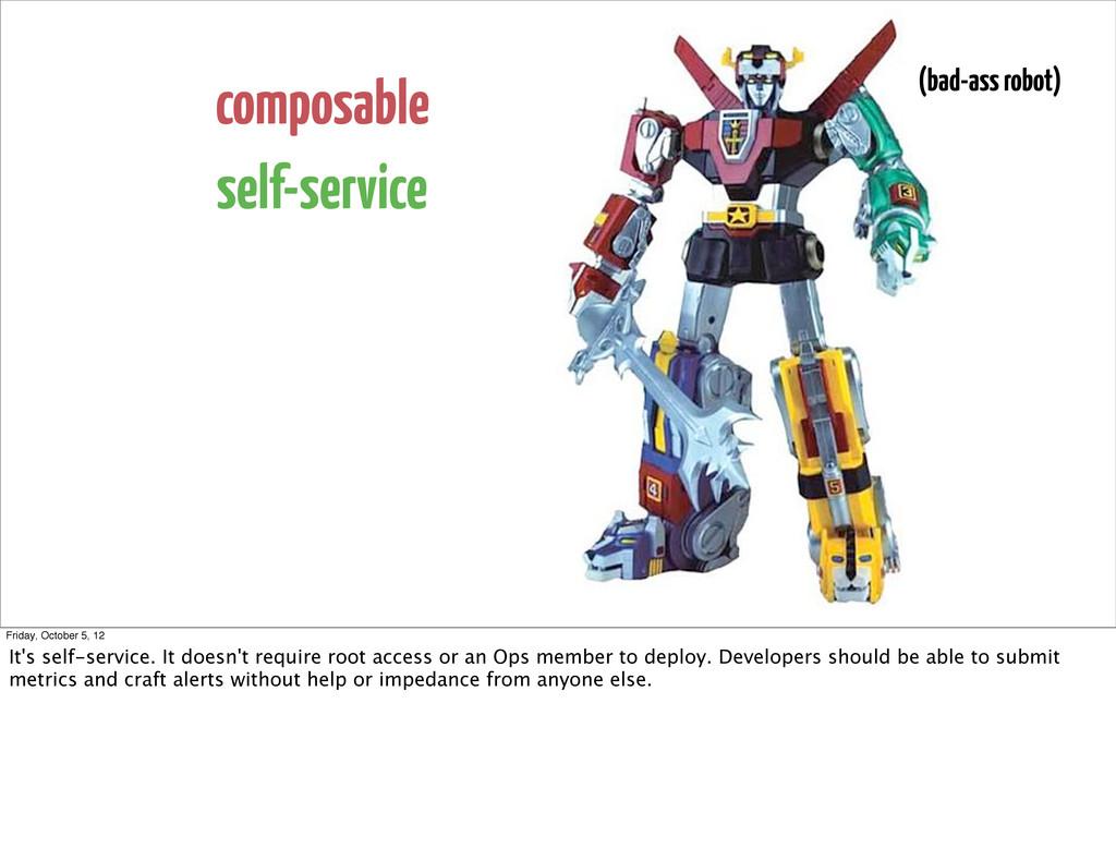 composable self-service (bad-ass robot) Friday,...
