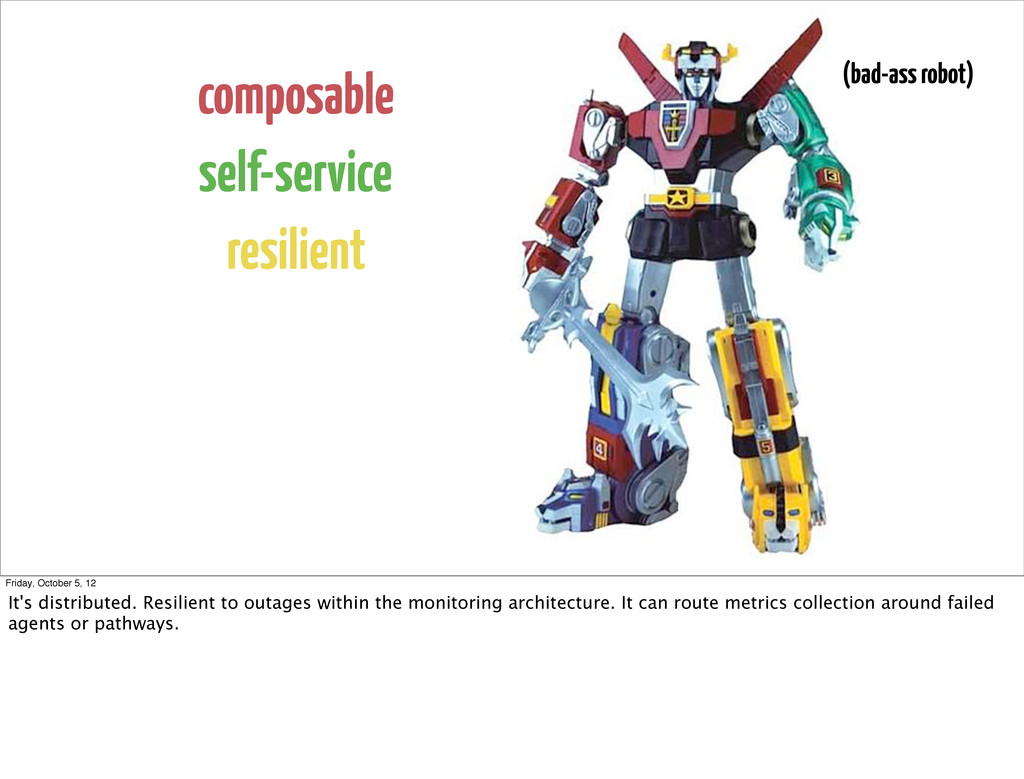 composable self-service resilient (bad-ass robo...