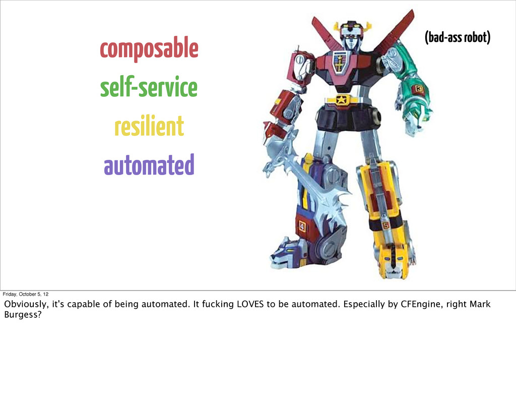 composable self-service resilient automated (ba...