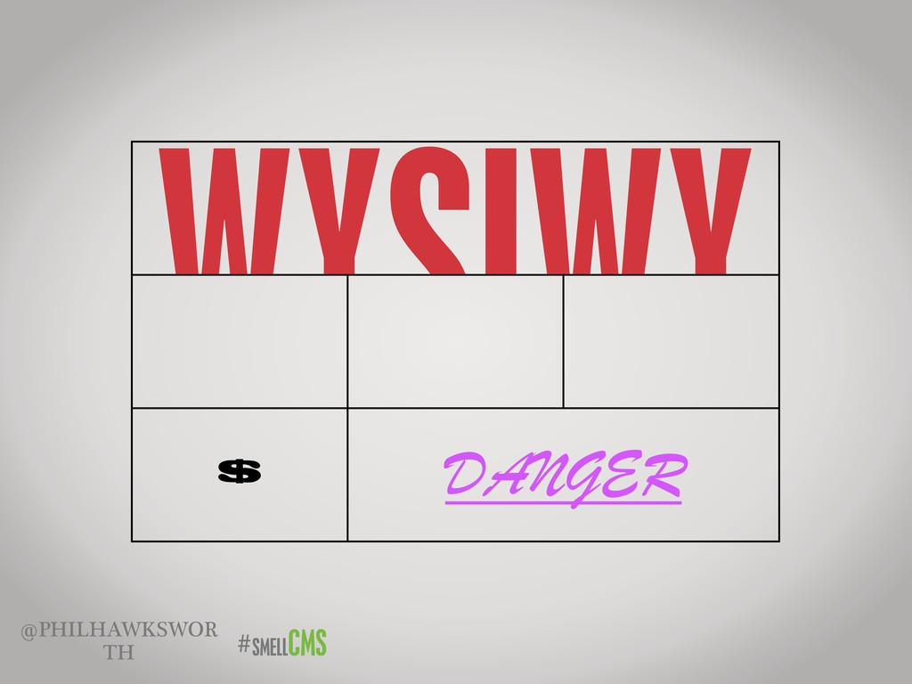 SMELLCMS # @PHILHAWKSWOR TH WYSIWY G WYSIWY G W...