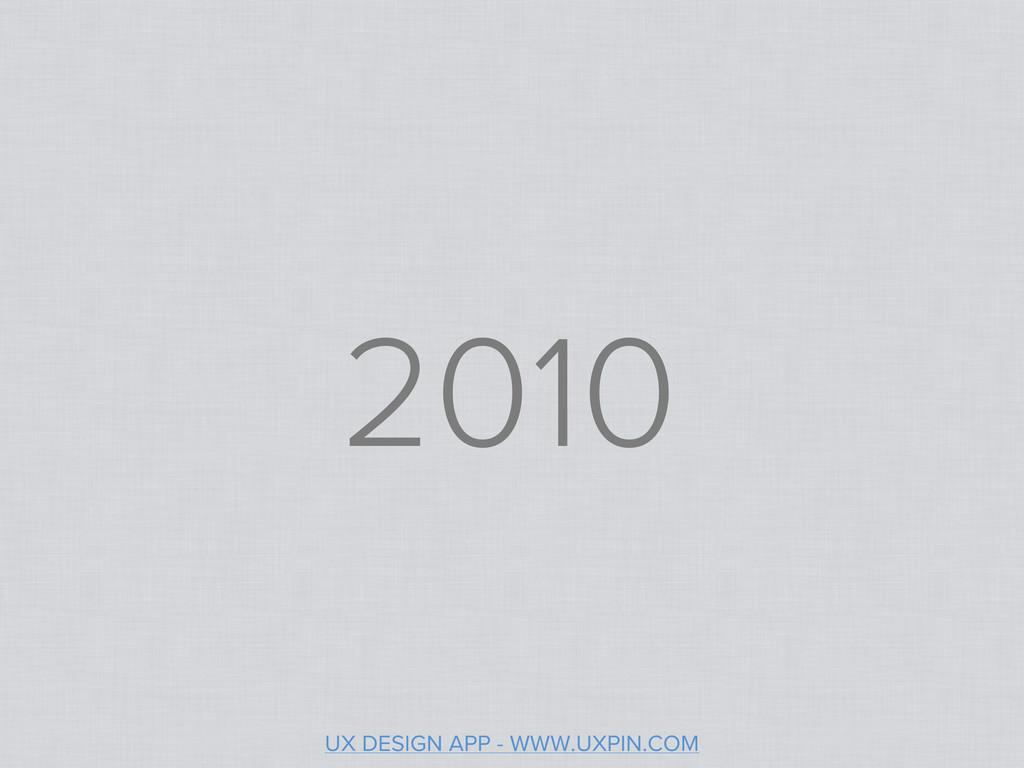 2010 UX DESIGN APP - WWW.UXPIN.COM