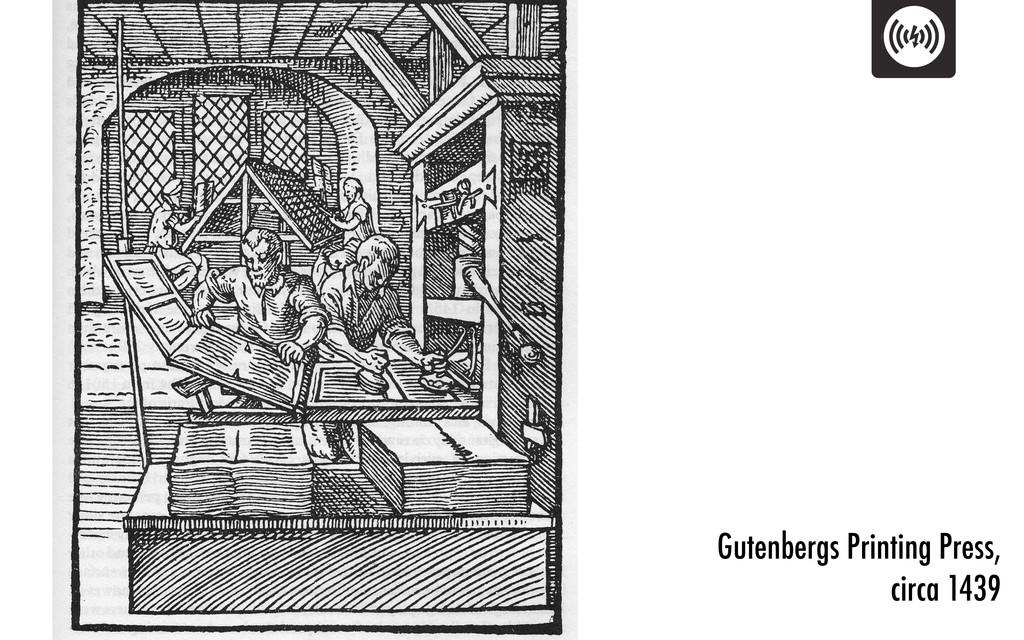 Gutenbergs Printing Press, circa 1439