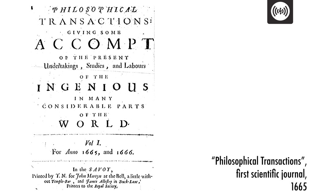 """""""Philosophical Transactions"""", first scientific jo..."""
