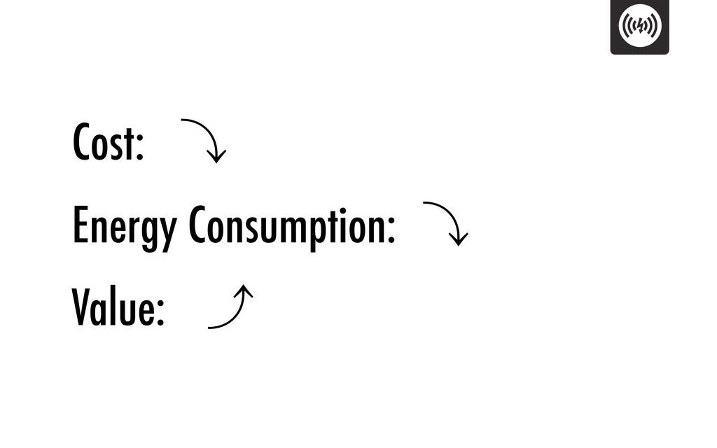 Cost: 㽊 Energy Consumption: 㽊 Value: 㽉
