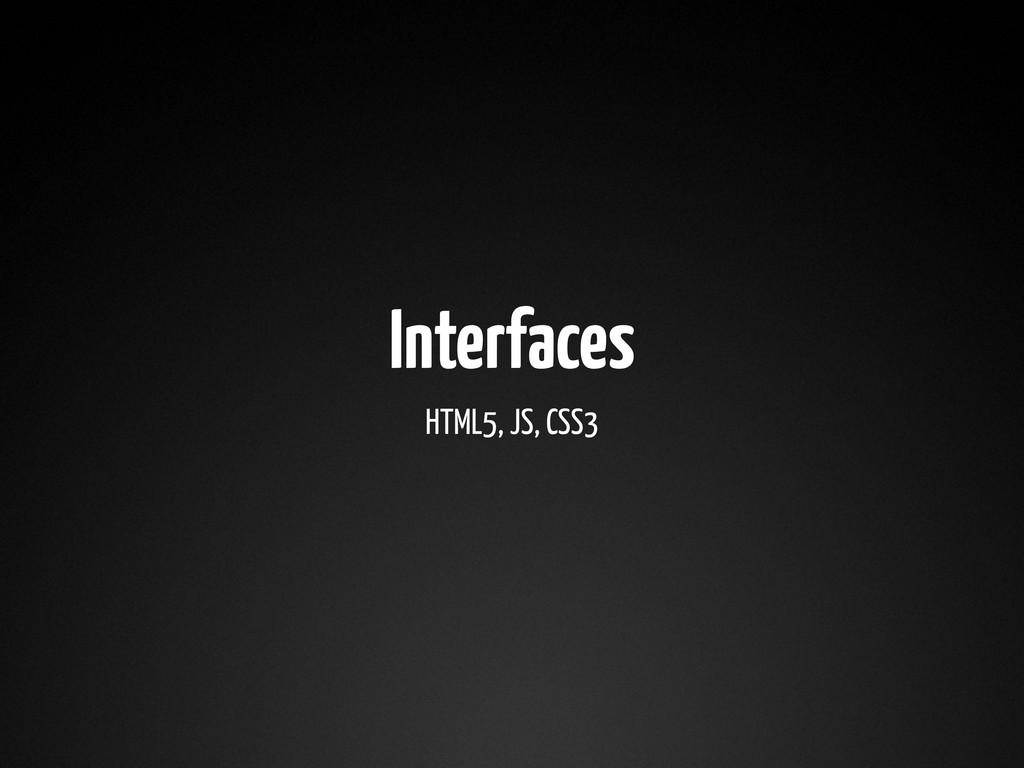 Interfaces HTML5, JS, CSS3
