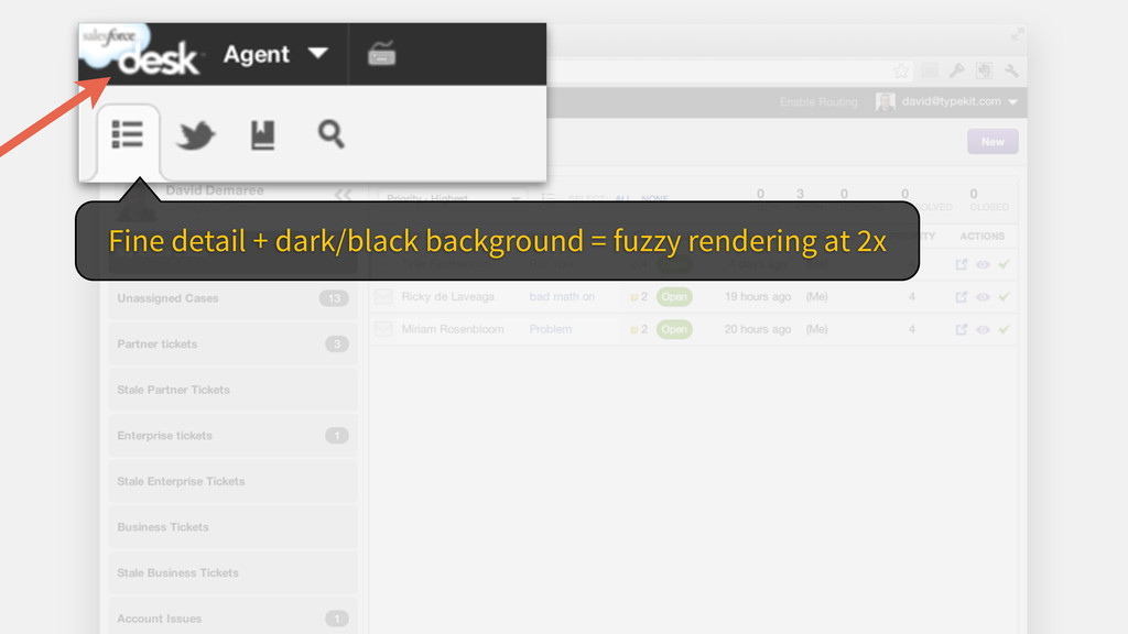 Fine detail + dark/black background = fuzzy ren...