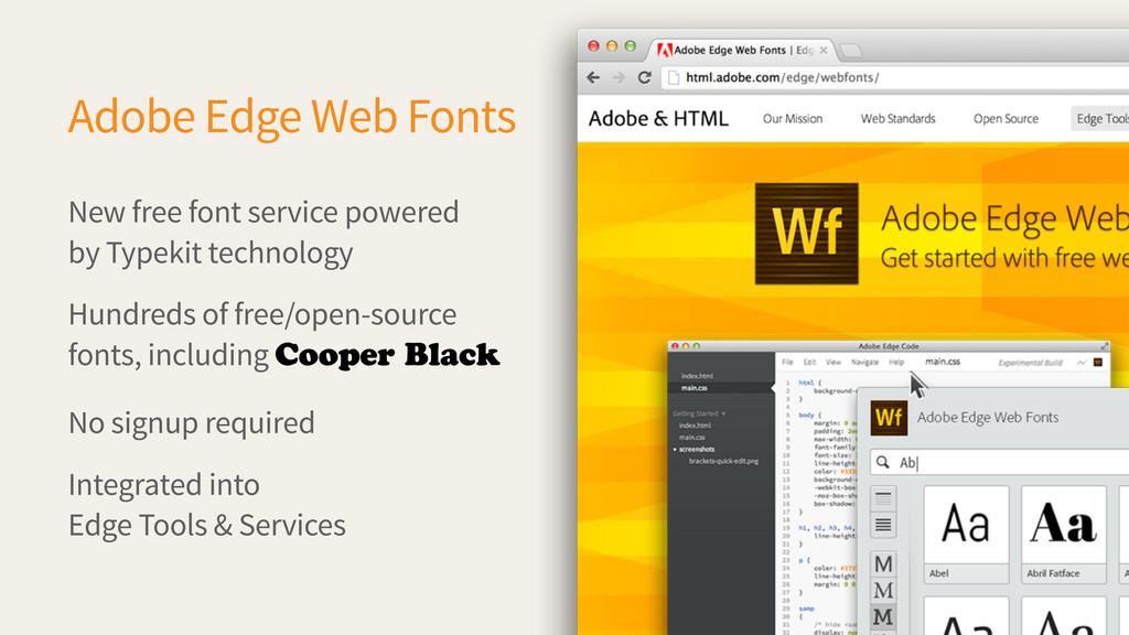 New free font service powered by Typekit techno...