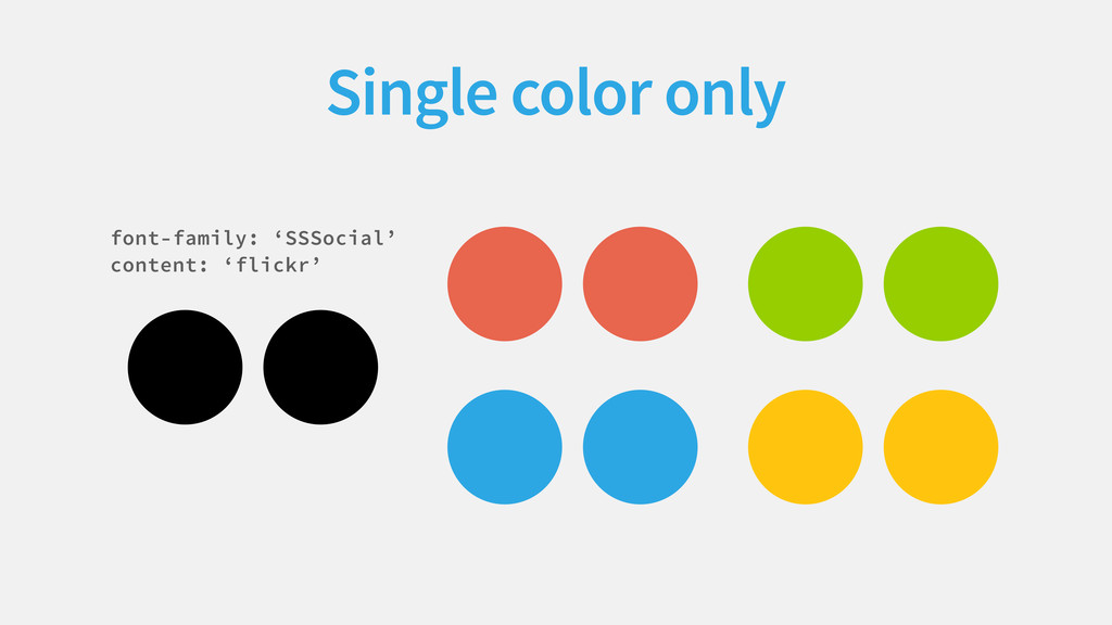  Single color only     font-family: 'SSSoc...