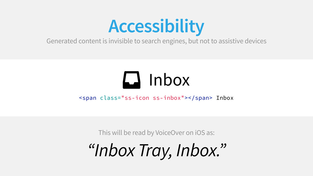 Accessibility Generated content is invisible to...