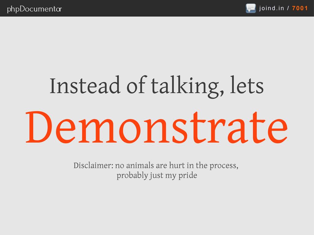 joind.in / 7001 phpDocumentor Instead of talkin...