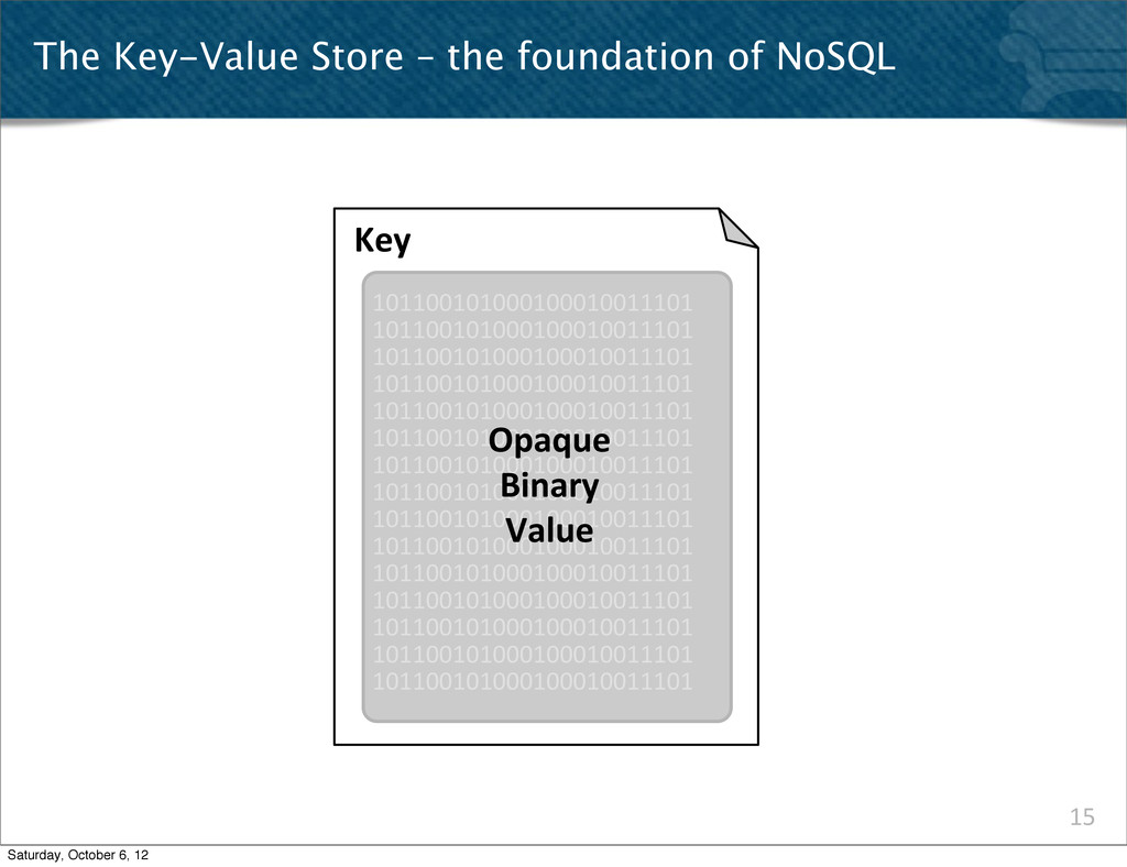 15 The Key-Value Store – the foundation of NoSQ...