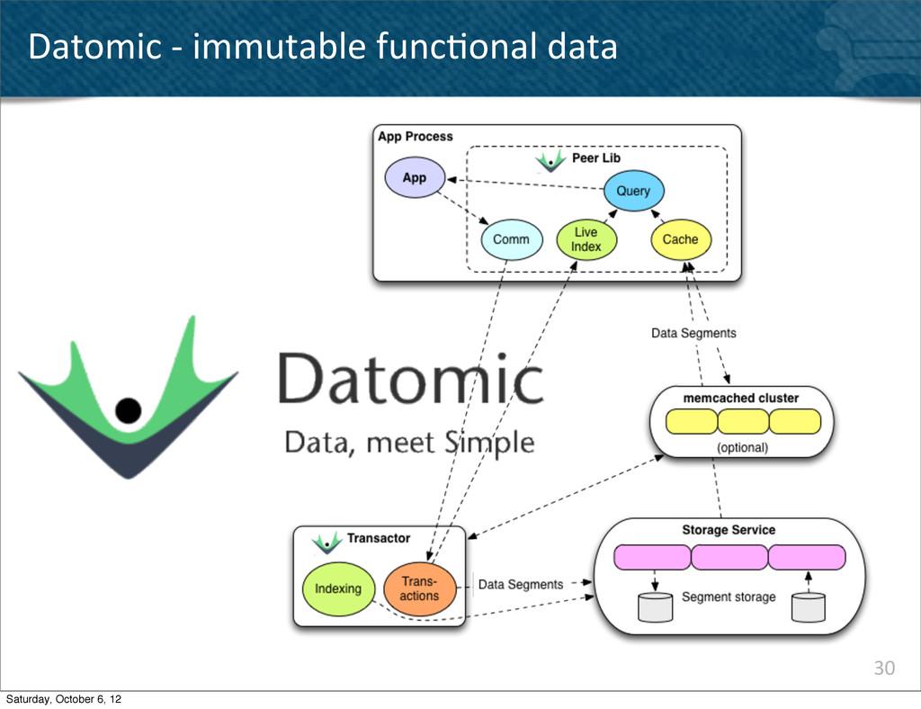 Datomic -‐ immutable func^onal dat...