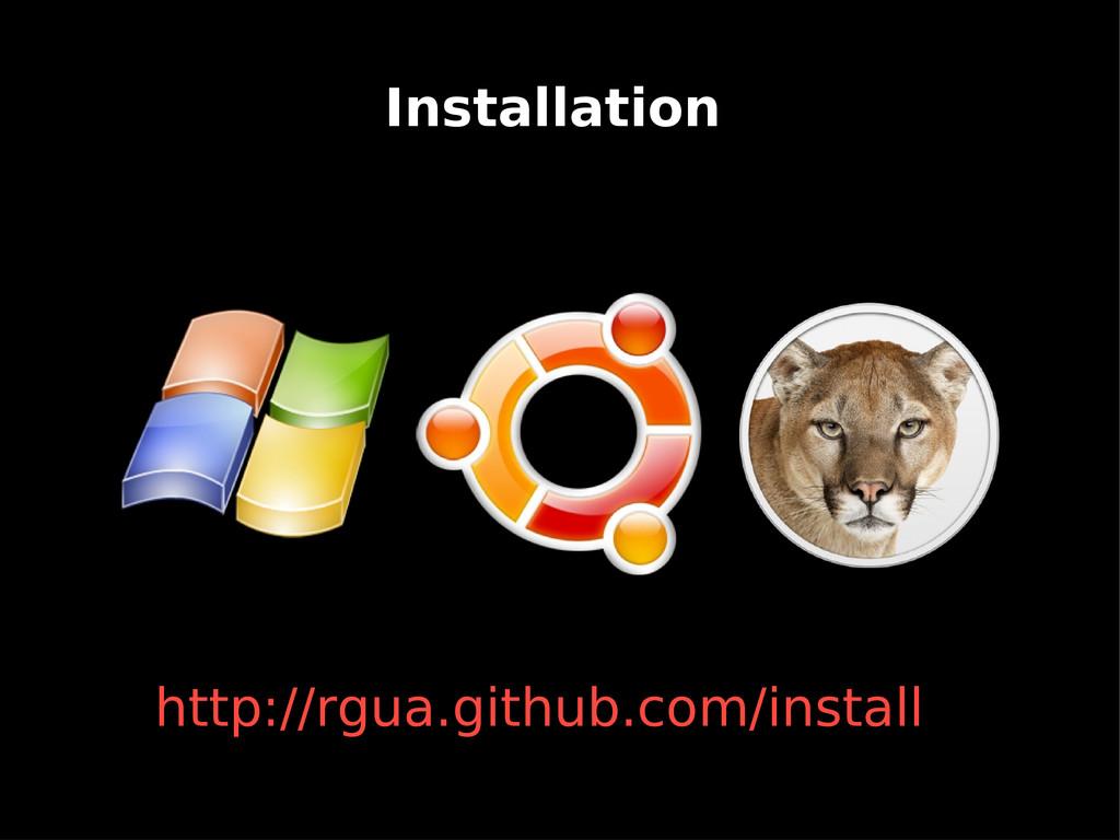 Installation http://rgua.github.com/install