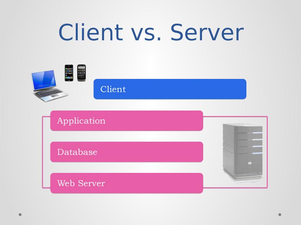 Client vs. Server