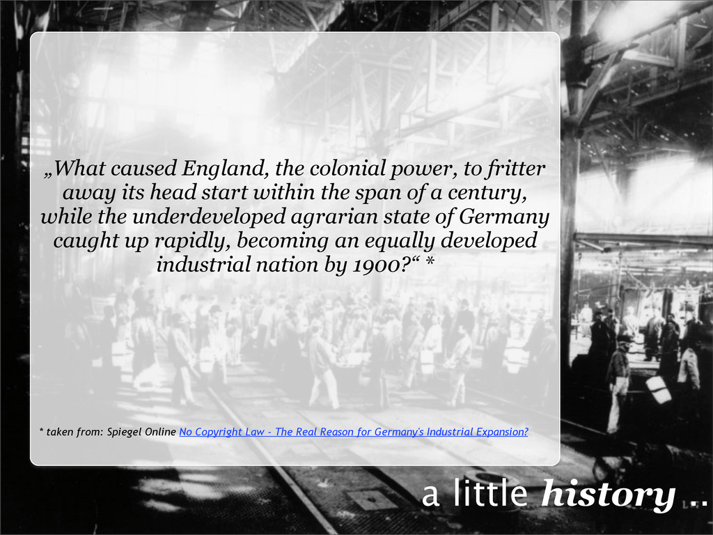 """What caused England, the colonial power, to fr..."