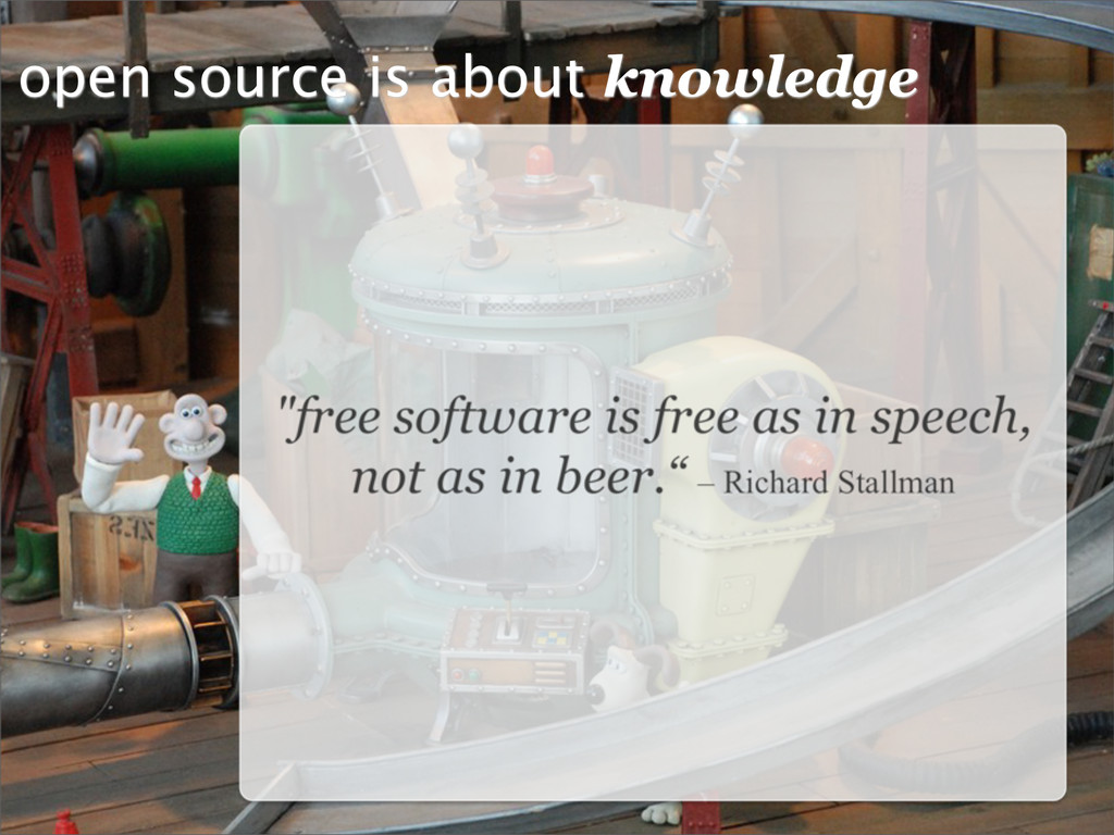 open source is about knowledge