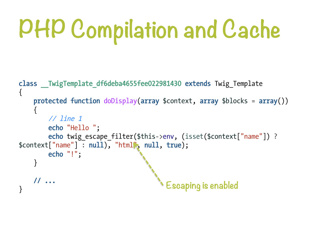 PHP Compilation and Cache class __TwigTemplate...