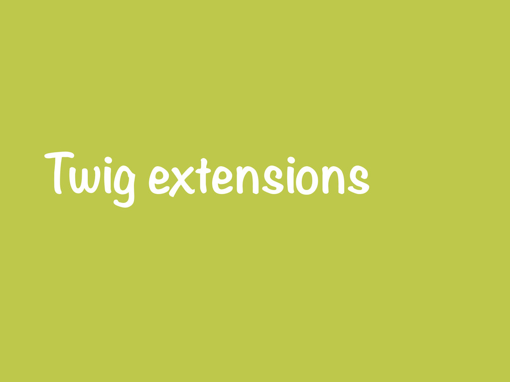 Twig extensions