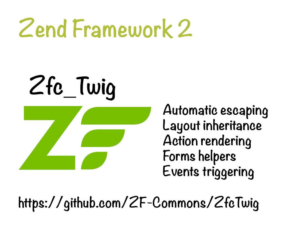 Zend Framework 2 Zfc_Twig Automatic escaping...