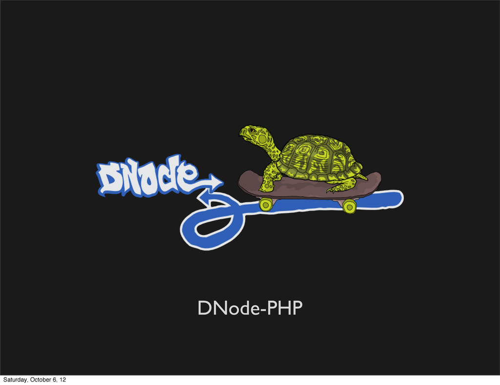 DNode-PHP Saturday, October 6, 12