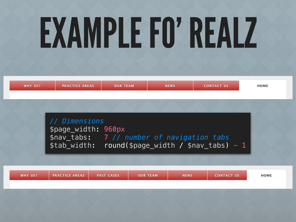 EXAMPLE FO' REALZ // Dimensions $page_width: 96...