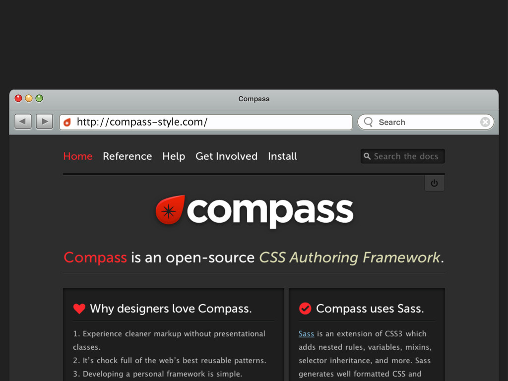 Compass http://compass-style.com/ Search