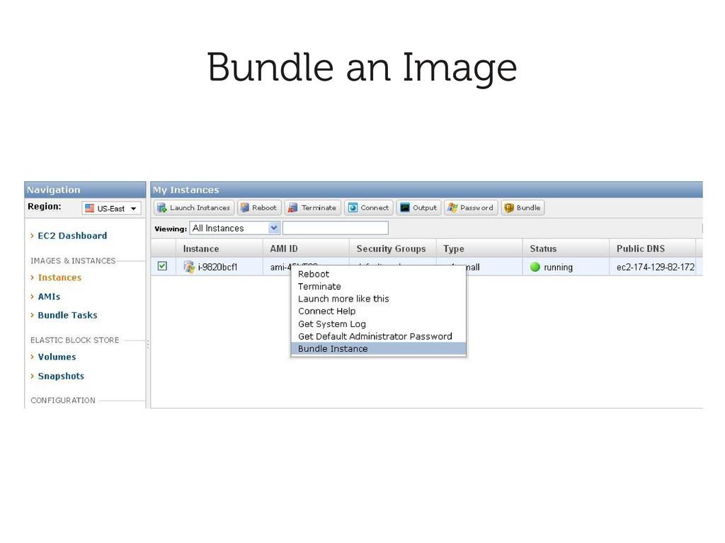 Bundle an Image