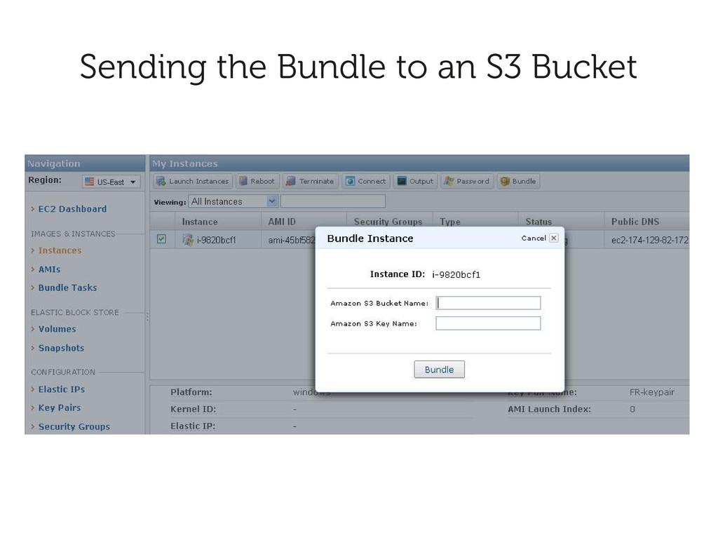 Sending the Bundle to an S3 Bucket