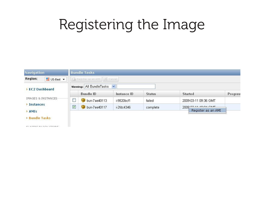 Registering the Image