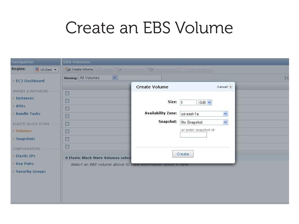 Create an EBS Volume