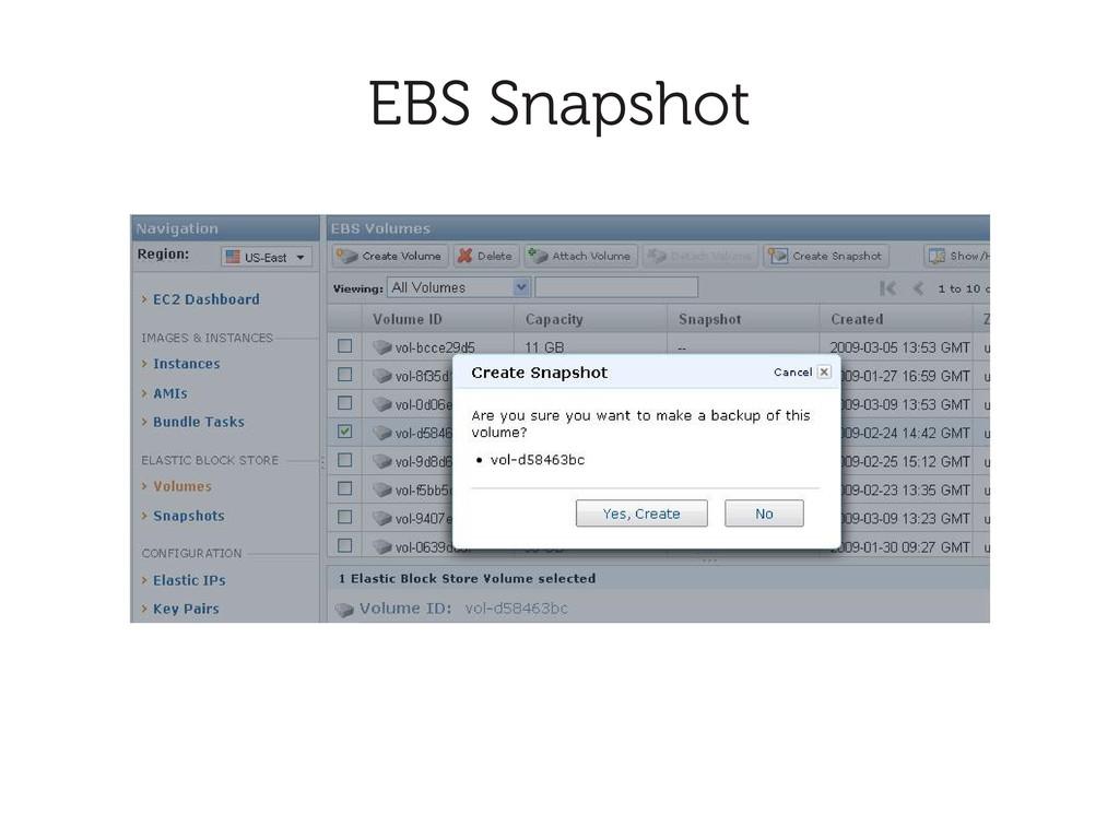 EBS Snapshot
