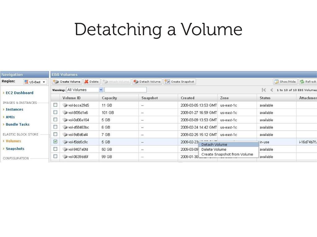Detatching a Volume