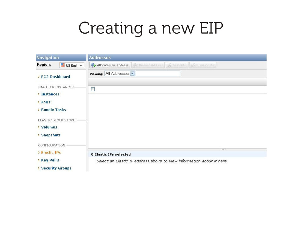 Creating a new EIP