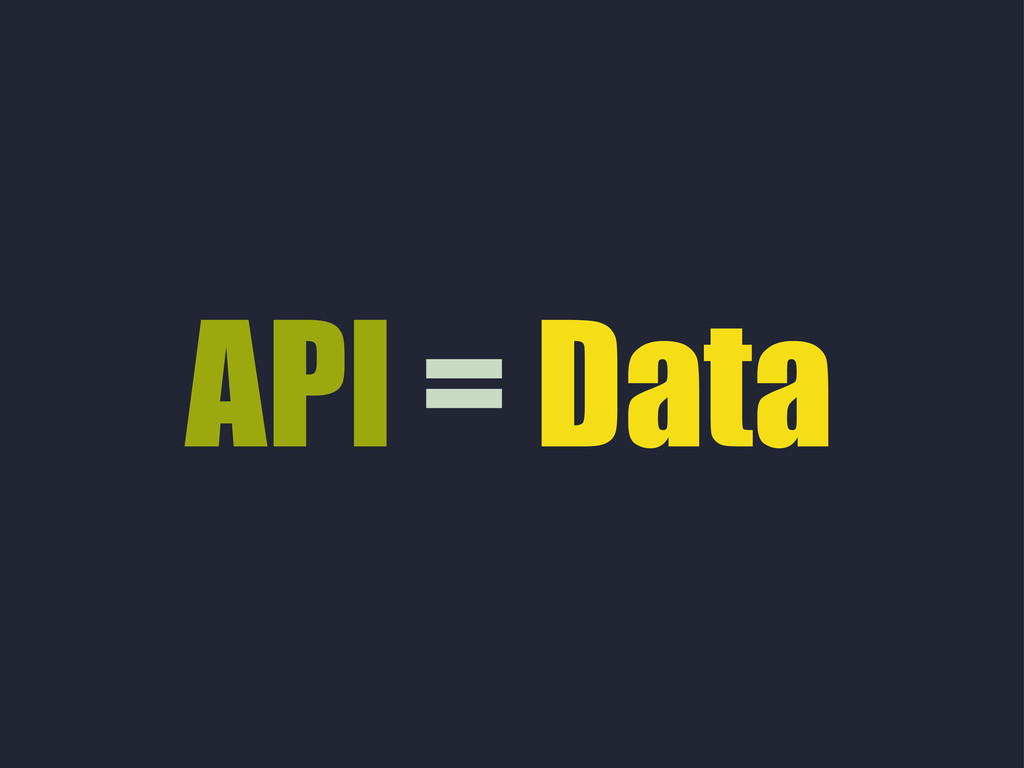API = Data