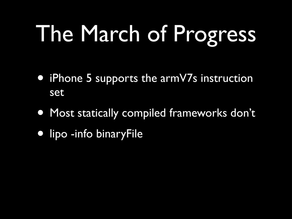 The March of Progress • iPhone 5 supports the a...