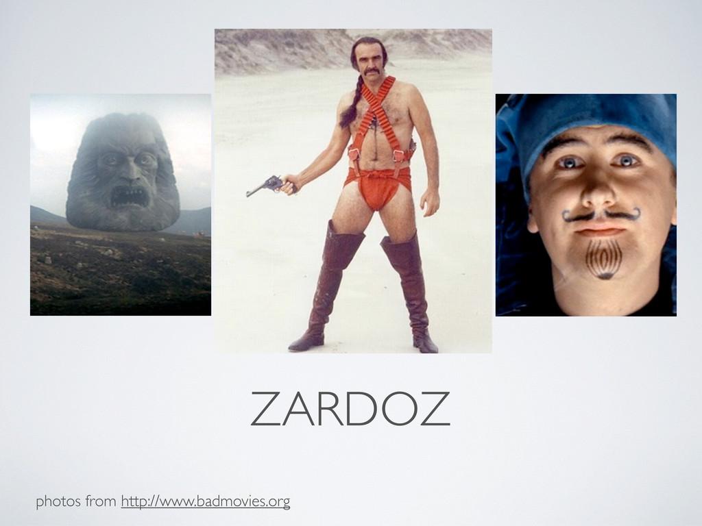 ZARDOZ photos from http://www.badmovies.org
