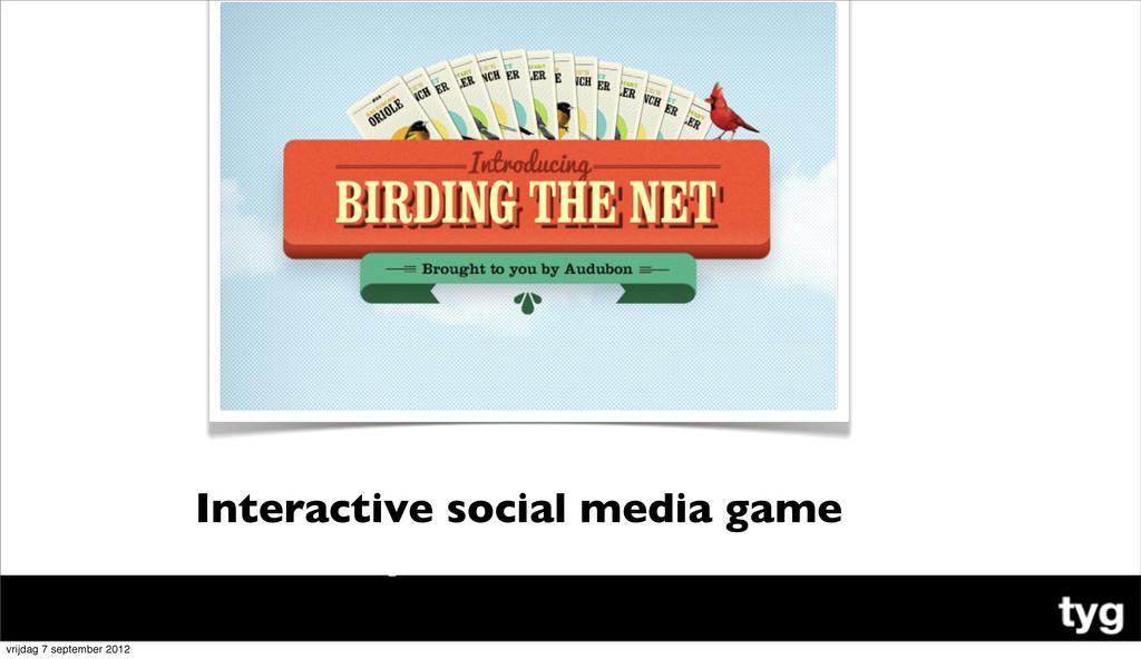 Interactive social media game vrijdag 7 septemb...