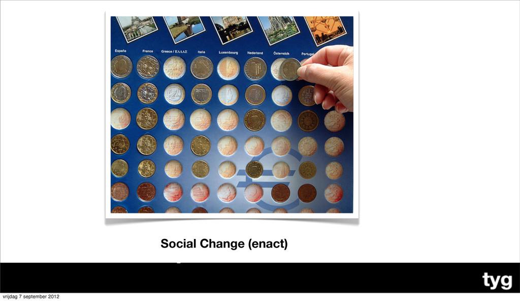 Social Change (enact) vrijdag 7 september 2012