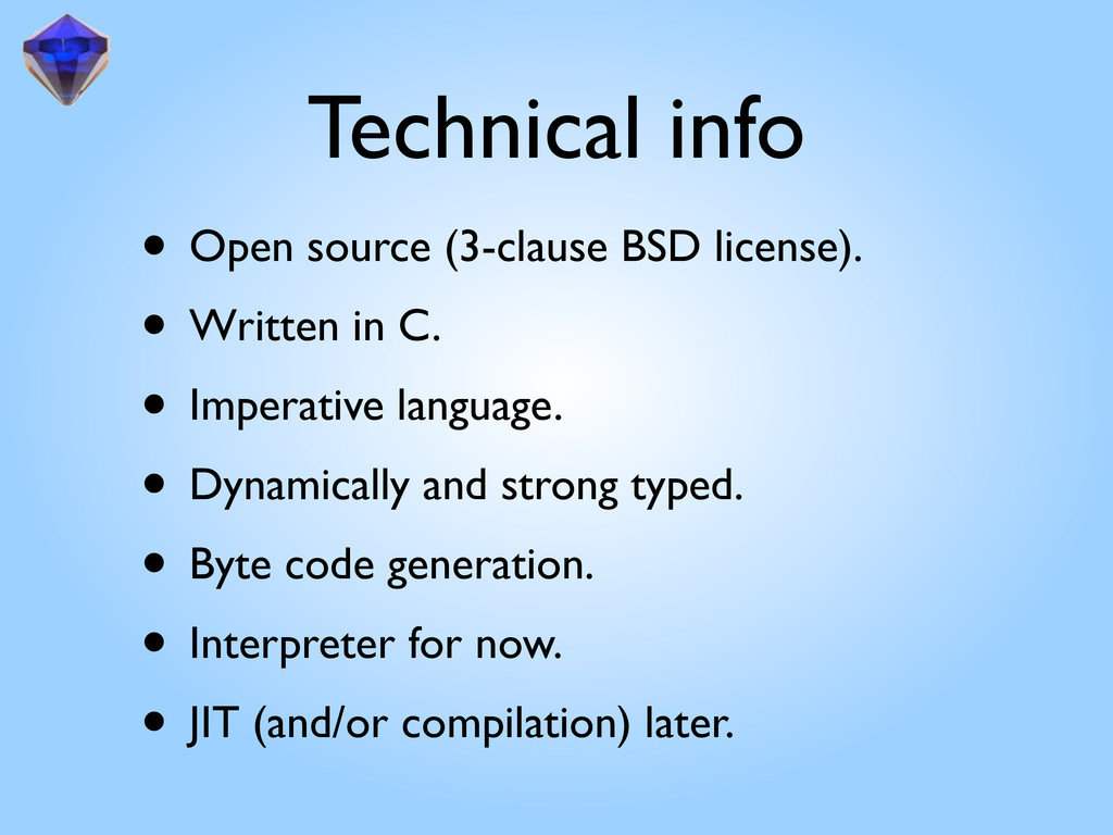 Technical info • Open source (3-clause BSD lice...