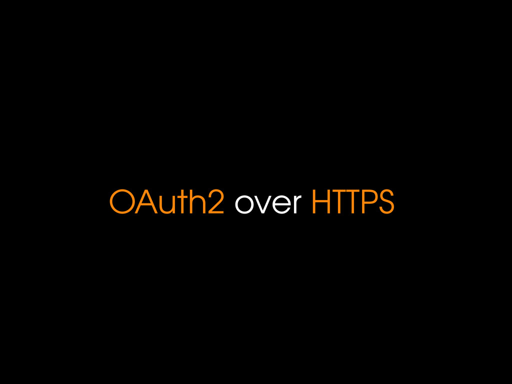 OAuth2 over HTTPS
