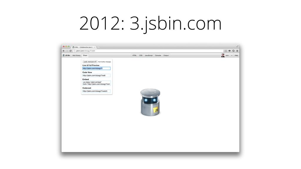 2012: 3.jsbin.com