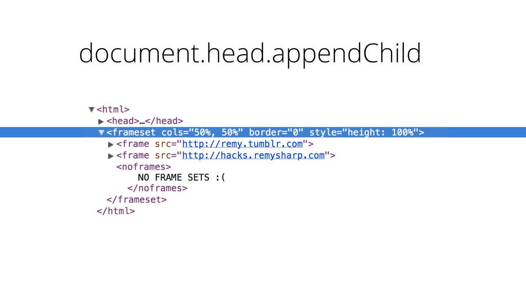 document.head.appendChild