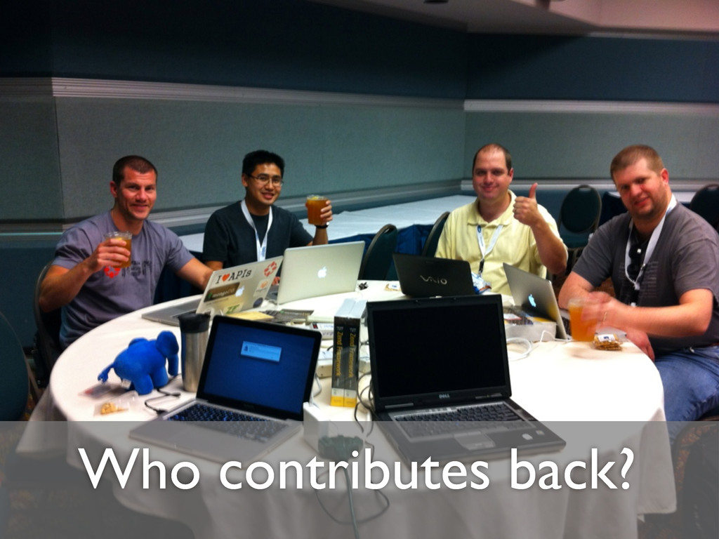 Who contributes back?