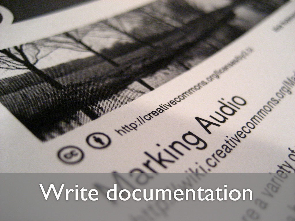 Write documentation