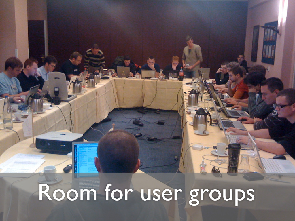 Room for user groups
