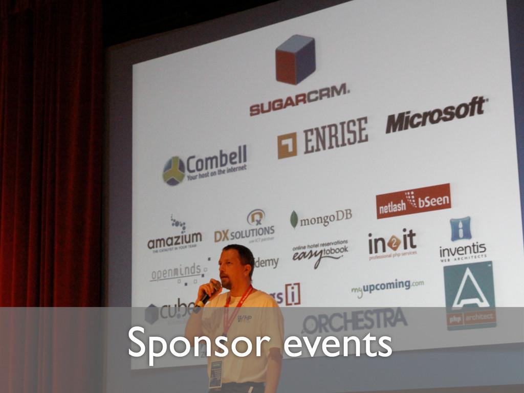 Sponsor events