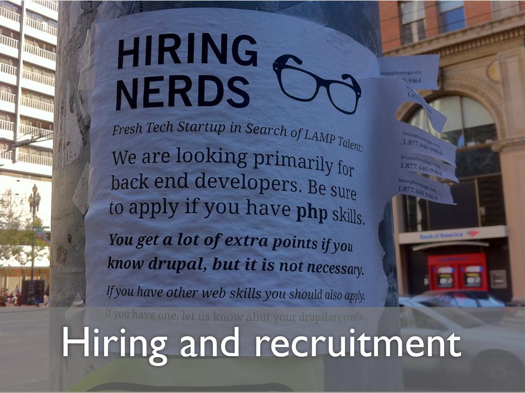 Hiring and recruitment
