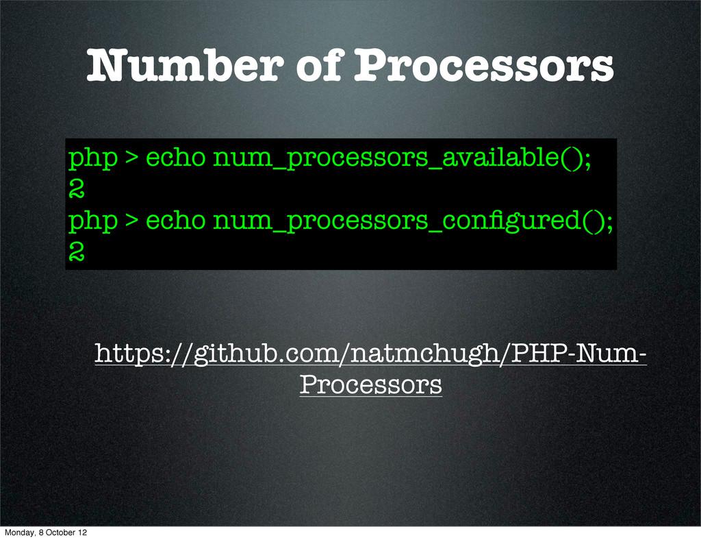 Number of Processors https://github.com/natmchu...