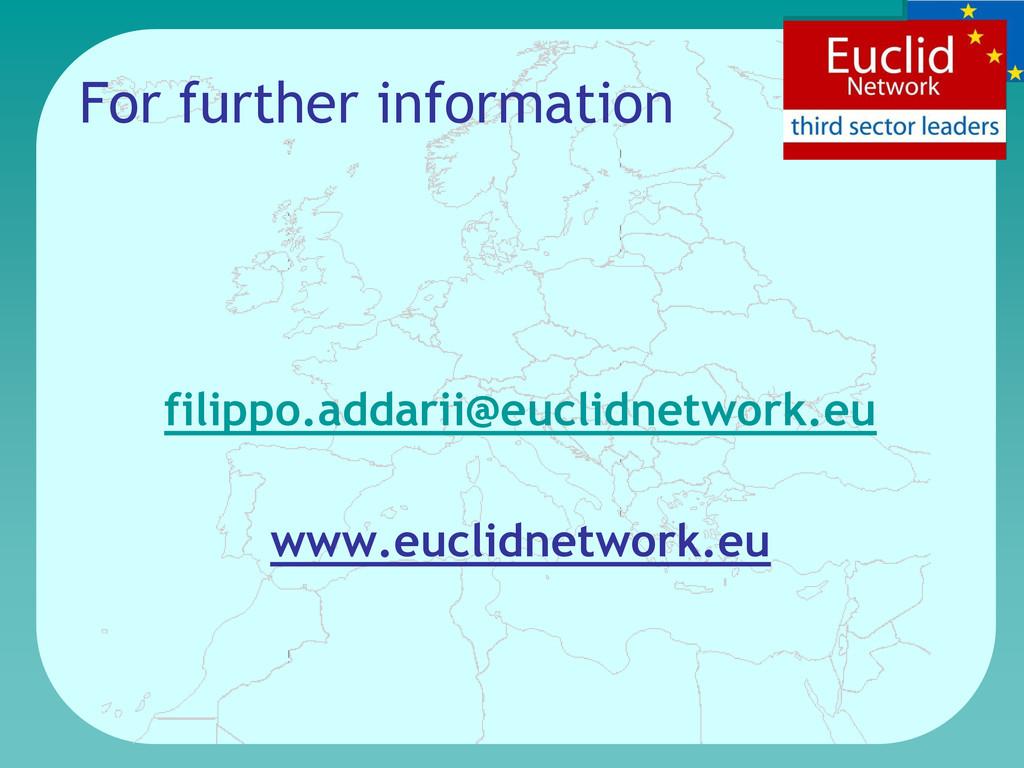 For further information filippo.addarii@euclidn...