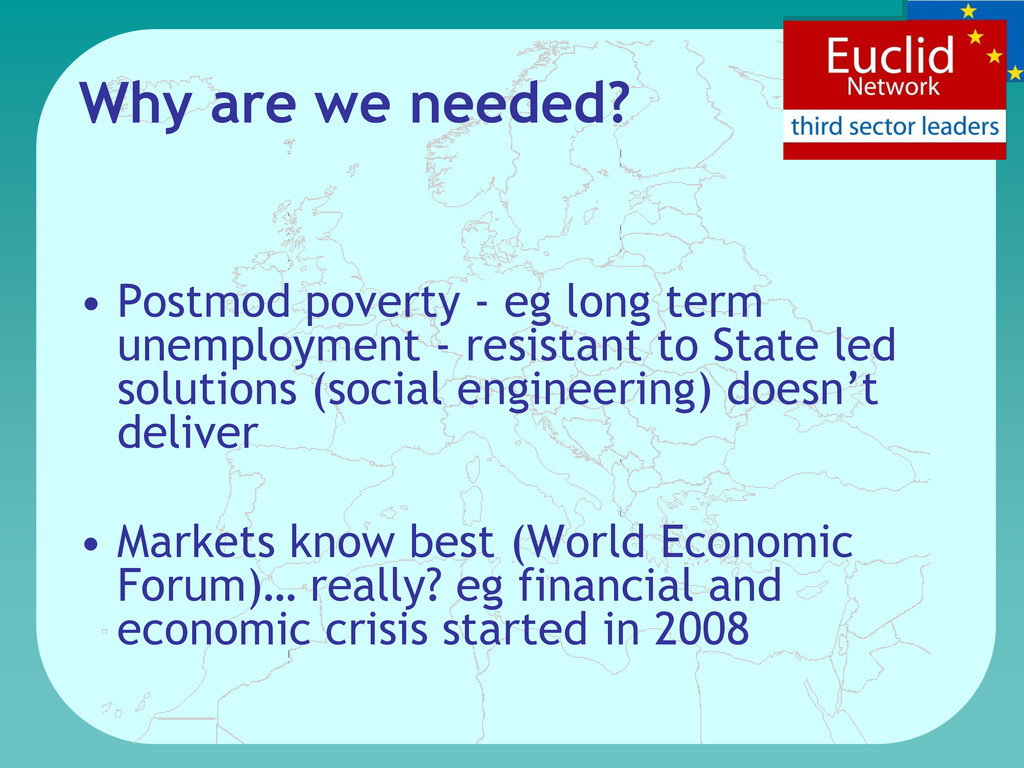 Why are we needed? • Postmod poverty - eg long ...